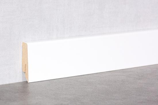 Sockelleiste 58mm Cube K58C   Weiß