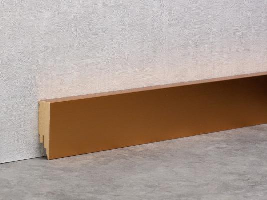 Kupfer gebürstet - Sockelleiste 60mm Bauhaus